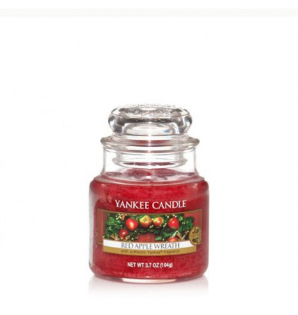 Petite Jarre Red Apple Wreath / pomme Canelle Yankee Candle