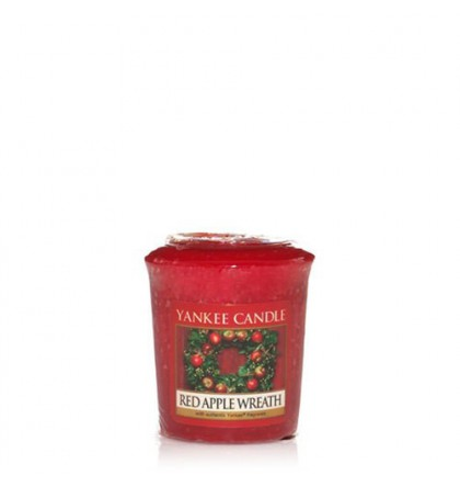Votive Red Apple Wreath / Pomme Canelle Yankee Candle