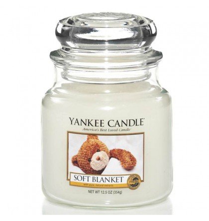 Yankee Candle Moyenne jarre Soft Blancket / Couverture douce yankeestore.fr