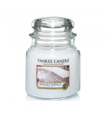 Yankee Candle Moyenne jarre Angel's Wings / Ailes d'Ange yankeestore.fr
