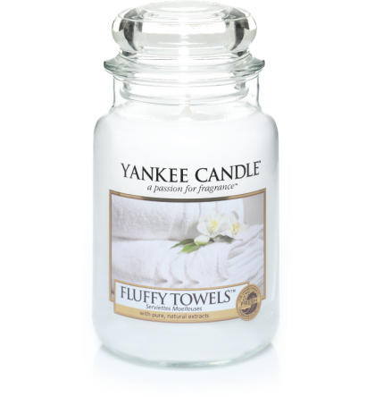 Grande jarre Fluffy Towels / Serviette Moelleuse Yankee Candle