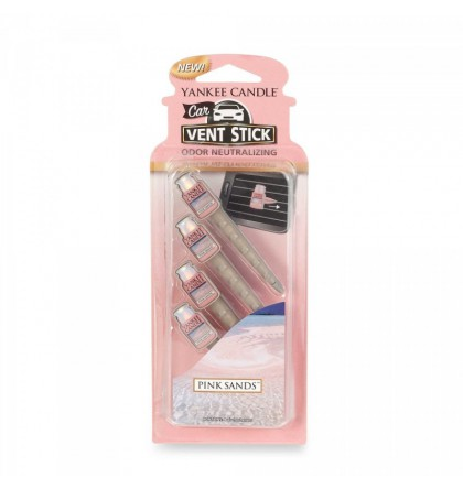 Yankee Candle Car Jar Vent Stick Pink Sands YankeeStore.fr