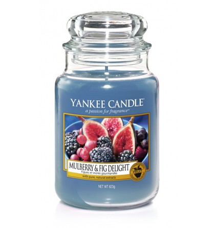 Grande jarre Yankee Candle Mulberry and Fig Delight / Figues et Mûres Gourmandes Yankee Candle