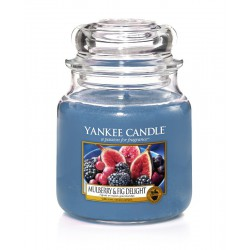 Yankee Candle Moyenne jarre Yankee Candle Mulberry & Fig Delight / Figues et Mûres Gourmandes yankeestore.fr